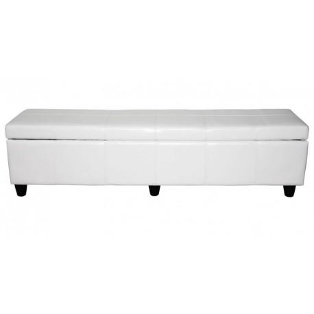 Banquette coffre de rangement blanc 180 cm