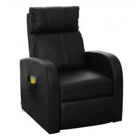 Fauteuil de relaxation et de massages noir