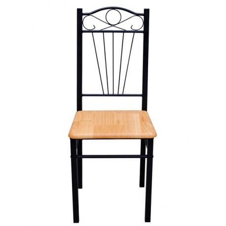 Ensemble de 2 chaises bois naturel et métal