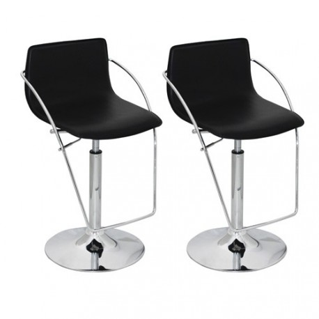 Ensemble de 2 tabourets design noir