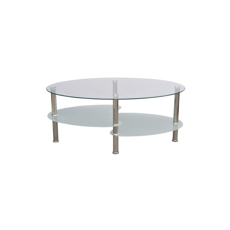 table ovale en verre top table avec pitement tulipe en chrome et verre gris with table ovale en. Black Bedroom Furniture Sets. Home Design Ideas