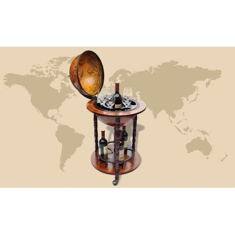 Bar Globe Terrestre Mappemonde en Bois