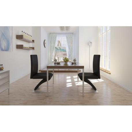 Ensemble de 2 chaises design noirs