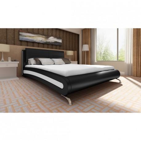 Lit design noir 140 x 200 cm
