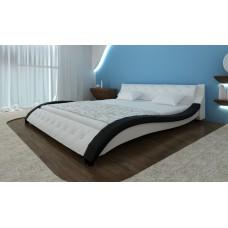 lit courbe  blanc et noir 140 x 200