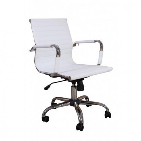Fauteuil de bureau design blanc