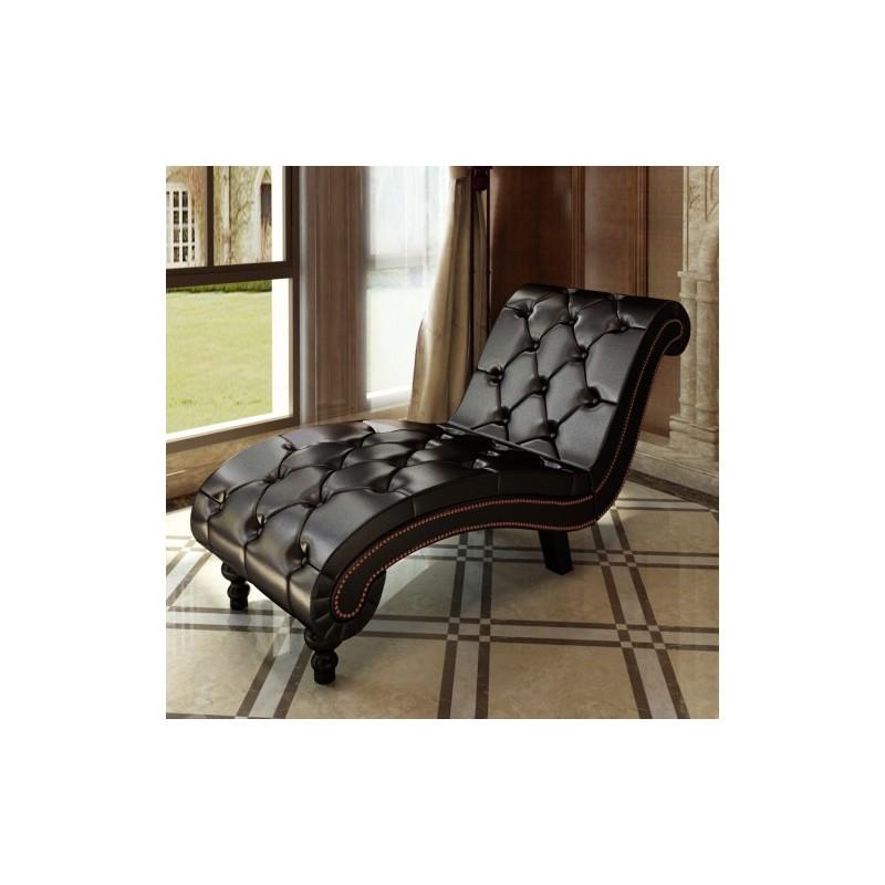 Divan canap m ridienne sofa chaise longue capitonn for Divan avec meridienne
