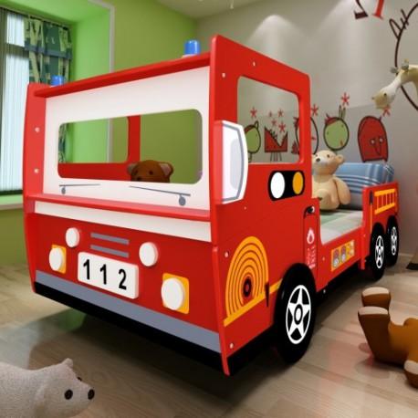Lit Enfant Camion De Pompier 200 X 90 Cm