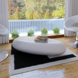 Table basse blanche en fibre de verre