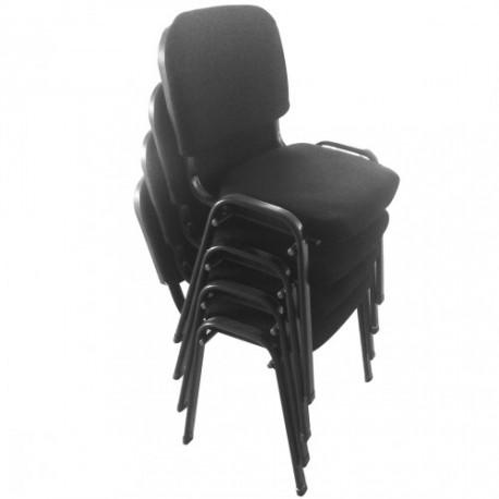 chaise de bureau  4 pièces Noir ergonomique Contreplaqué + Fer 53 x 51 x 78cm