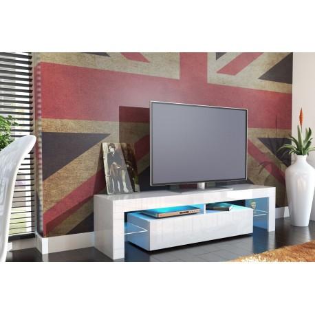meuble tv design laqué blanc - ja discount - Meuble Tele Design Pas Cher