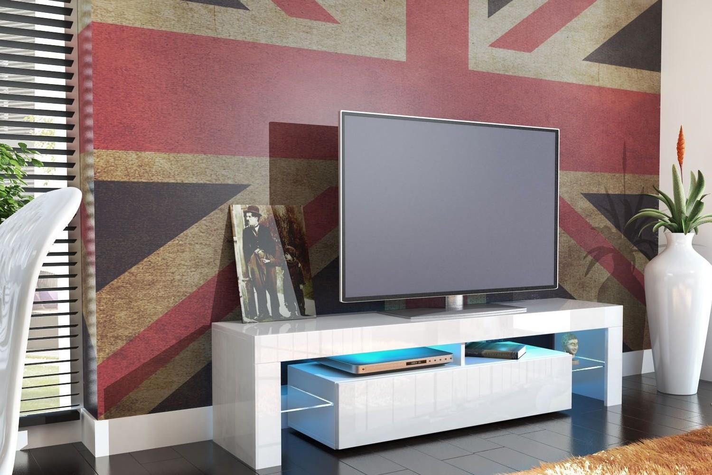 meuble tv design laqué blanc - ja discount - Meuble Allemand Design