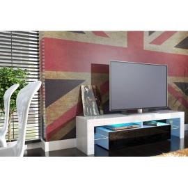 Meuble tv design laqué blanc et noir