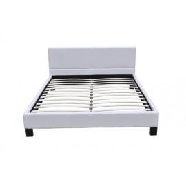Grand lit  blanc  180 x 200 cm avec sommier