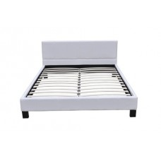 Grand lit  creme/blanc  180 x 200 cm avec sommier