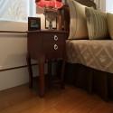Table de chevet 2 tiroirs en brun