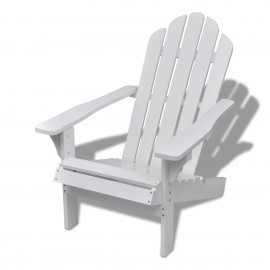 Chaise de salon jardin en bois blanche chaise relaxation