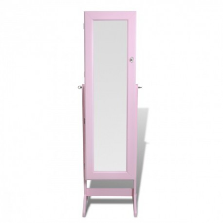 armoire bijoux rangement miroir meuble chambre