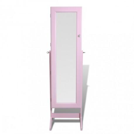 Armoire à Bijoux rangement miroir meuble chambre