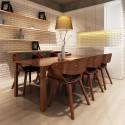 Chaises à accoudoirs salle à manger brun