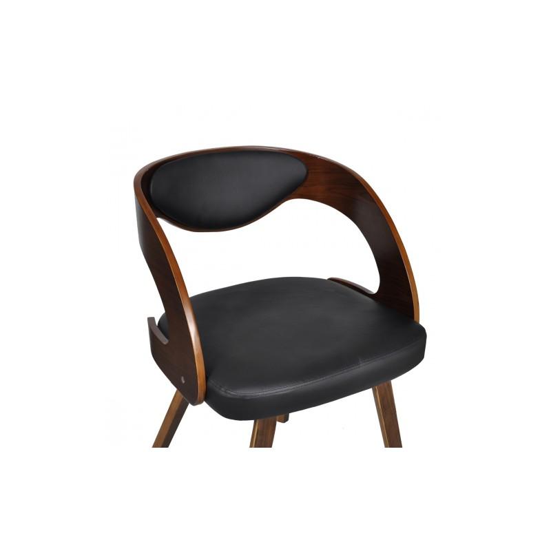 Chaises accoudoirs salle manger en cuir brun - Chaise en cuir salle a manger ...