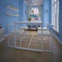 Table de salle à manger et 4 chaises MDF