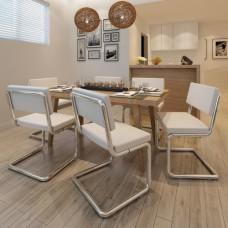 Set de 6 Chaises de salon Design et Moderne en Simili Cuir blanc