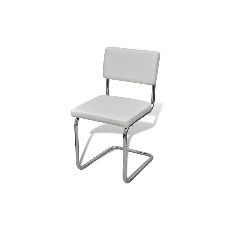 set de 6 chaises de salon design et moderne en simili cuir. Black Bedroom Furniture Sets. Home Design Ideas