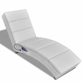Chaise Massage Fonctionnelle Pliable Blanc