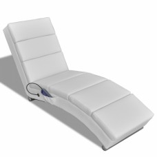 Chaise Massage Fonctionnelle Pliable Blanc