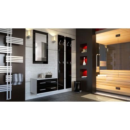 Ensemble de meubles d'entrée en blanc et noir