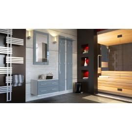 Ensemble de meubles d'entrée en blanc et gris