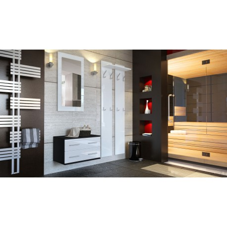 Ensemble de meubles d'entrée noir et blanc