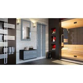 Ensemble de meubles d'entrée noir et gris
