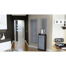 Ensemble de hall d'entrée laqué design  noir et  gris